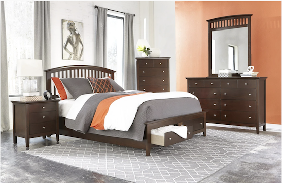 mission style storage bedroom