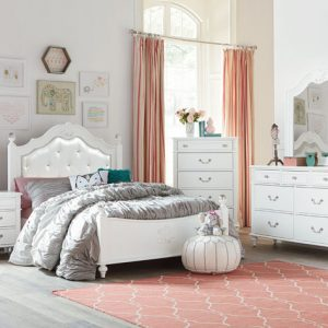 crystal bedroom white girls princess bedroom
