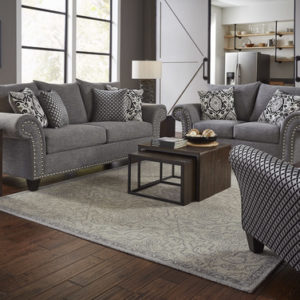 grey linen sofa set