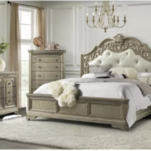 beige antique bedroom set