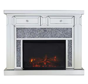 mirror electric fireplace