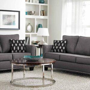 grey nailhead sofa set