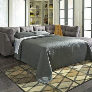 grey sleeper sectional