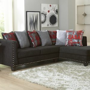 small black studio sectional