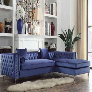 blue-velvet-sectional-right-side-chaise