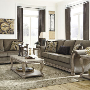 plush coffee-colored upholstery