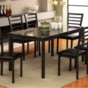 Maxson faux marble table and 6 chairs