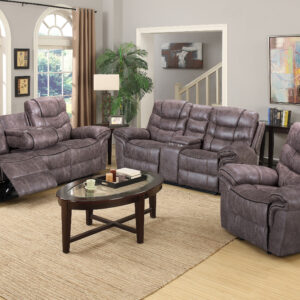 brown reclining sofa set