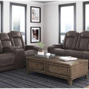grey reclining sofa